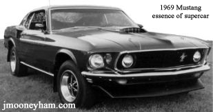 1969 Ford Mustang Mach 1 with front spoiler and mud flaps