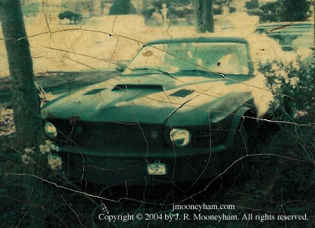 Actual rare photo of front end of the 1969 Ford Mustang Mach 1 supercar